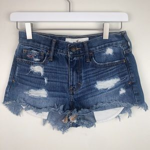 Hollister | Distressed Denim Shorts